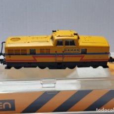 Trenes Escala: IBERTREN LOCOMOTORA GASOI C.E.M.E.S. ESCALA N EN BLISTER . Lote 195046430