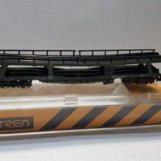 Trenes Escala: IBERTREN VAGON PORTA COCHES 4 EJES ESCALA N EN BLISTER. Lote 195049015