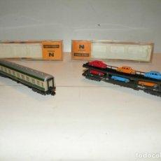Trenes Escala: VAGON DE VIAJEROS 1ª CLASE SNCF Y VAGÓN PORTACOCHES IBERTREN ESCALA N. Lote 195050852
