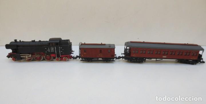 Trenes Escala: LOCOMOTORA VAPOR DB 66002 + VAGÓN PASAJEROS MATARÓ + VAGÓN EQUIPAJE Y CORREOS. ESC. N IBERTREN - Foto 9 - 197075417