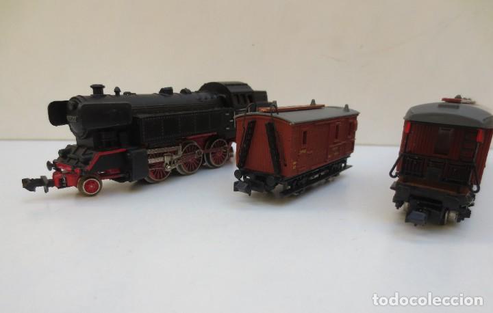 Trenes Escala: LOCOMOTORA VAPOR DB 66002 + VAGÓN PASAJEROS MATARÓ + VAGÓN EQUIPAJE Y CORREOS. ESC. N IBERTREN - Foto 10 - 197075417