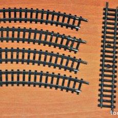 Trenes Escala: LOTE DE 6 TRAMOS DE VÍA ENNEGRECIDA DE IBERTREN, ESCALA N O 2N.. Lote 197336152