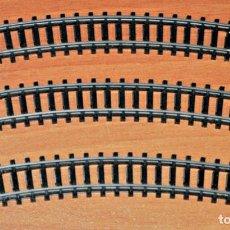 Trenes Escala: LOTE DE 3 TRAMOS DE VÍA CURVA 30º R-243 (EXTERIOR) DE IBERTREN. ESCALA 3N.. Lote 197355457