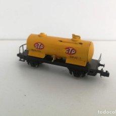 Trenes Escala: ANTIGUO VAGON CISTERNA DE STP - CARBURANTE - IBERTREN - ESCALA N - 2 EJES - . Lote 197846500