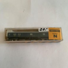 Trenes Escala: IBERTREN VAGON N RENFE AZUL FURGON. Lote 203243140