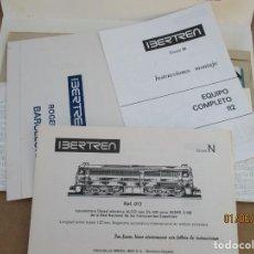 Trenes Escala: IBERTREN SOBRE INSTRUCCIONES EQUIPO 112 MEJOR VER FOTOS. Lote 206825738