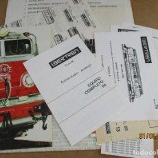 Trenes Escala: IBERTREN SOBRE INSTRUCCIONES EQUIPO 114 MEJOR VER FOTOS. Lote 206825996