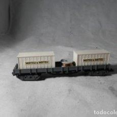 Trenes Escala: VAGÓN BORDE BAJO ESCALA N DE IBERTREN. Lote 207245778