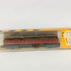 Trenes Escala: VAGON MERCANCIAS TRONCOS IBERTREN REF 415 COMO NUEVO. Lote 243623600