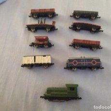 Trenes Escala: EXCELENTE LOTE DE IBERTREN 8 VAGONES Y 1 LOCOMOTORA MIREN FOTOS. Lote 212921111