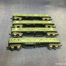 Trains Échelle: LOTE 4 VAGONES IBERTREN ESCALA N BUEN ESTADO 13,5CMS. Lote 213236212