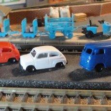 Trains Échelle: SEAT 600 DE IBERTREN Y FURGONETA VW. Lote 217488256
