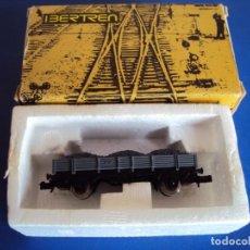 Trenes Escala: (TR-200903)VAGÓN BORDE BAJO 2 EJES GRIS CON CARBÓN DE IBERTREN, REF. 3103/G. ESCALA N. Lote 218502153
