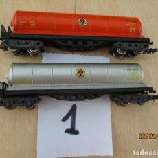 Trenes Escala: DOS VAGONES CISTERNA BUTANEROS. Lote 218613065