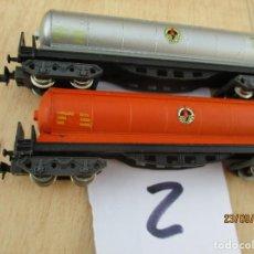 Trenes Escala: DOS VAGONES CISTERNA BUTANEROS. Lote 218613097