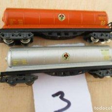 Trenes Escala: DOS VAGONES CISTERNA BUTANEROS. Lote 218613137
