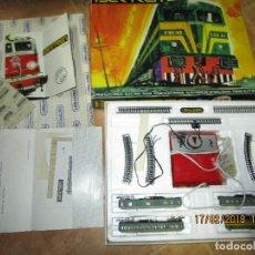 Trenes Escala: TREN ELECTRICO JUGUETE ANTIGUO IBERTREN ESPAÑA COMPLETO SIN ABRIR CATALOGOS IMPECABLE VER FOTOS !!!!. Lote 220749892