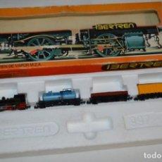 Trenes Escala: IBERTREN ESCALA N / 2N - ESTUCHE/CAJA REF. 997 - 3 VAGONES CON LOCOMOTORA CUCO - ¡MIRA FOTOS!. Lote 221253453