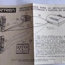 Trenes Escala: IBERTREN N INSTRUCCIONES DESVÍOS ELÉCTRICOS. Lote 221460788