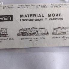 Trenes Escala: IBERTREN N PROSPECTO FOLLETO MATERIAL MOVIL. Lote 221461961