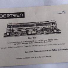 Trenes Escala: IBERTREN 3N INSTRUCCIONES LOCOMOTORA ALCOM REF 012. Lote 221462085