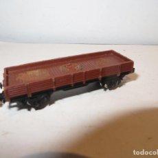 Trenes Escala: IBERTREN VAGON CARGA ABIERTO PERFIL BAJO SIN FALTAS,BARATO VER DESCRIPCION. Lote 222215073