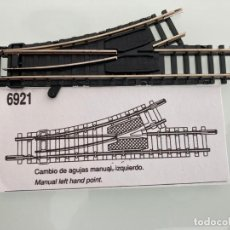 Trenes Escala: TREN, IBERTREN 6921, CAMBIO DE AGUJAS MANUAL IZQUIERDO, DESVIO MANUAL IZQUIERDO. Lote 224023611
