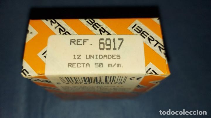 IBERTREN 2N. REFERENCIA 6917 - VÍAS RECTAS 50 MM- CAJA CON 12 VIAS (Juguetes - Trenes a escala N - Ibertren N)