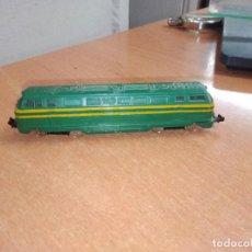 Trains Échelle: LOCOMOTORA ELÉCTRICA - IBERTREN - VERDE Y AMARILLA - ESCALA N. Lote 230682310