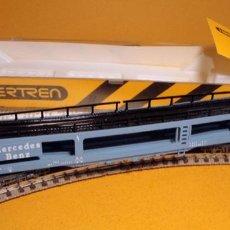 Trenes Escala: VAGÓN PORTACOCHES DE MERCEDES BENZ DE IBERTREN. Lote 237518335
