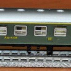 Trenes Escala: COCHE DE VIAJEROS 4 EJES 1ª CLASE VERDE DE LA SERIE 8000 DE RENFE DE IBERTREN, REF. 201. ESCALA N. Lote 239849560