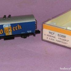 Trenes Escala: ANTIGUO VAGÓN FRIGORÍFICO 2 EJES WARTECK REF. 6380 EN ESCALA *N* DE IBERTREN IBER MODEL. Lote 241429495