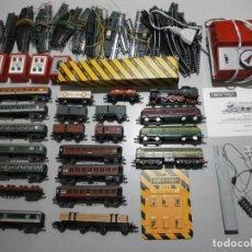 Trenes Escala: GRAN LOTE DE TRENES IBERTREN N LOCOMOTORAS VAGONES Y ACCESORIOS. Lote 244190125