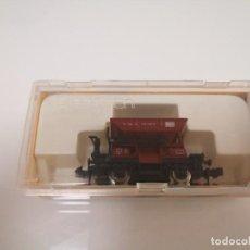Trenes Escala: IBERTREN N REF. 461(M) VAGONETA DE MINAS EN COLOR MARRON SIN USAR. Lote 244627150