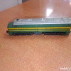 Trains Échelle: MÁQUINA TREN IBERTREN 3N VERDE Y AMARILLA -- NO PROBADA -- COMO SE VE. Lote 245262515