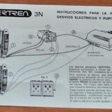 Trenes Escala: INSTRUCCIONES PARA LA INSTALACIÓN DE DESVÍOS ELÉCTRICOS Y PUPITRE DE MANDOS DE IBERTREN. Lote 246092300