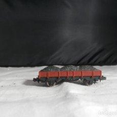 Comboios Escala: VAGÓN BORDE BAJO ESCALA N DE IBERTREN. Lote 246253195