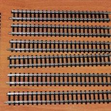 Trenes Escala: LOTE DE 10 TRAMOS DE VÍA RECTA DE 120 MM DE IBERTREN, REF. 611. ESCALA 3N. Lote 246740115