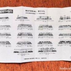 Trenes Escala: IBERTREN - CATÁLOGO MATERIAL MÓVIL 1974 - ESCALA N - JYA120. Lote 252407270