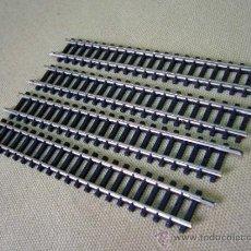 Trenes Escala: LOTE DE 4 VIAS RECTAS, IBERTREN, ESCALA N. Lote 254697370
