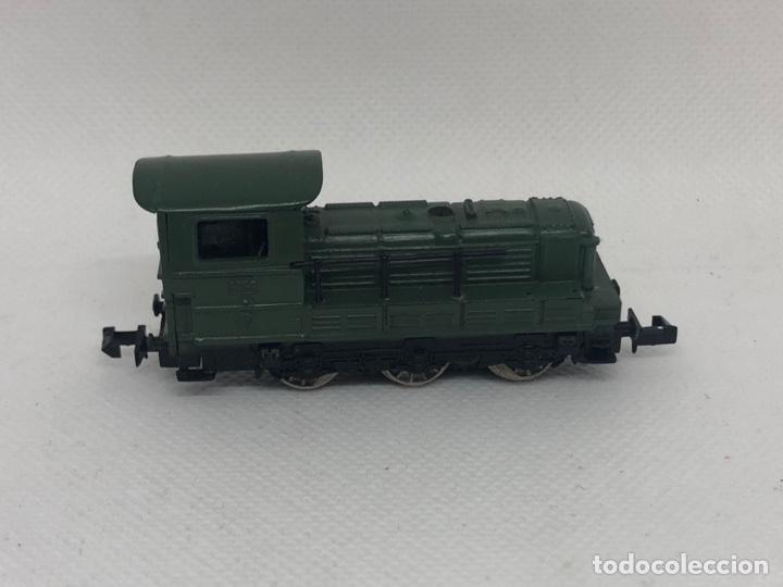 Trenes Escala: MAQUINA TREN VERDE DE IBERTREN ESCALA N - Foto 2 - 256001830