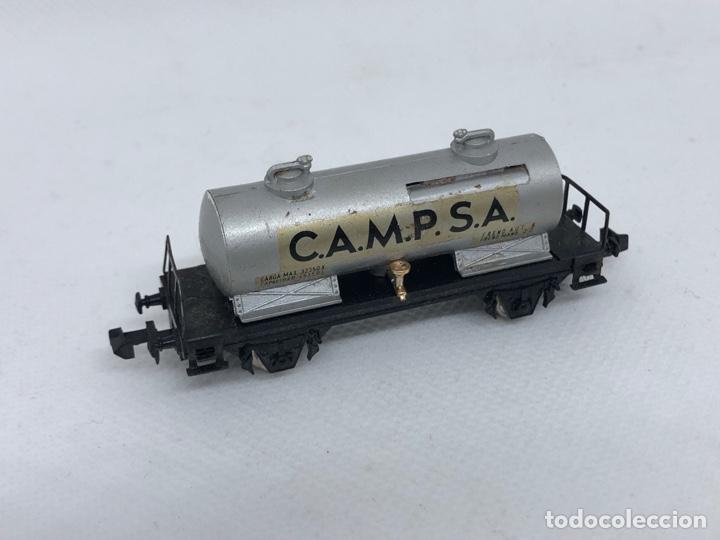 VAGON CISTERNA CAMPSA FABRICADO POR IBERTREN ESCALA N (Juguetes - Trenes a escala N - Ibertren N)