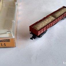 Treni in Scala: IBERTREN N, VAGÓN CARGA CON ARENA. EN CAJA DE OTRO MODELO. Lote 261985100