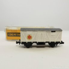 Trenes Escala: IBERTREN REF.344 VAGÓN CERRADO 2 EJES BLANCO. ESCALA1/ 160 N. Lote 262815750