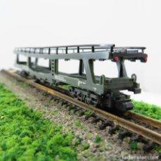 Trenes Escala: IBERTREN REF. 452 VAGÓN PORTA-VEHÍCULOS 4 EJES. ESCALA 1/160 N. Lote 262966665