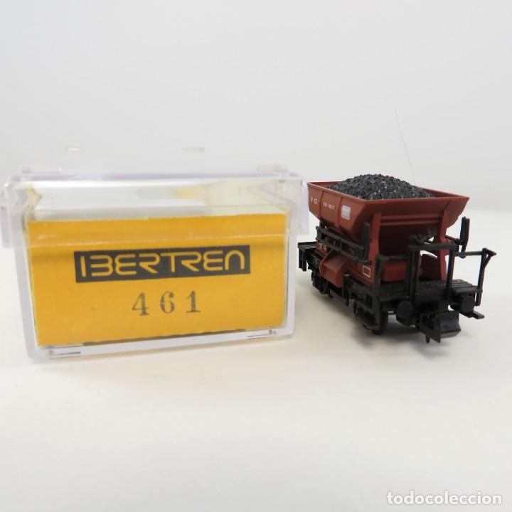 Trenes Escala: Ibertren 461 Vagoneta minas dos ejes marrón con carbón Escala 1/160 N - Foto 2 - 263074645
