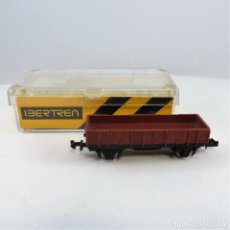 Trenes Escala: IBERTREN REF. 321 VAGÓN BORDE MEDIO 2 EJES MARRÓN. ESCALA 1:160 N (0650). Lote 265848184