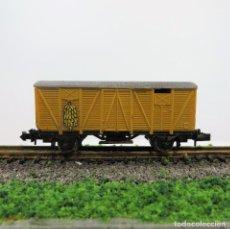 Trenes Escala: IBERTREN REF. 343 VAGÓN CERRADO TRANSPORTE DE PLÁTANOS 2 EJES. ESCALA 1:160 N. Lote 265863144
