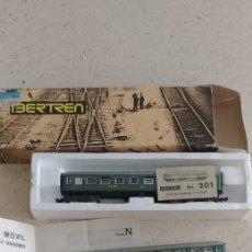 Treni in Scala: TRES VAGONES RENFE IBERTREN N UNO EN CAJA NUEVOS ESTADO EXCELENTE. Lote 265975223