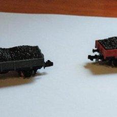 Trenes Escala: LOTE DE 2 VAGONES PARA MERCANCIAS TREN DE JUGUETE. IBERTREN, ESPAÑA.. Lote 267447829